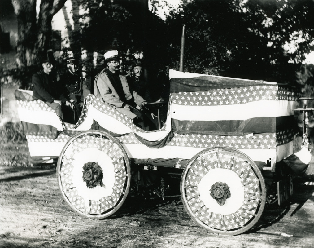 Decorated automobile as parade float